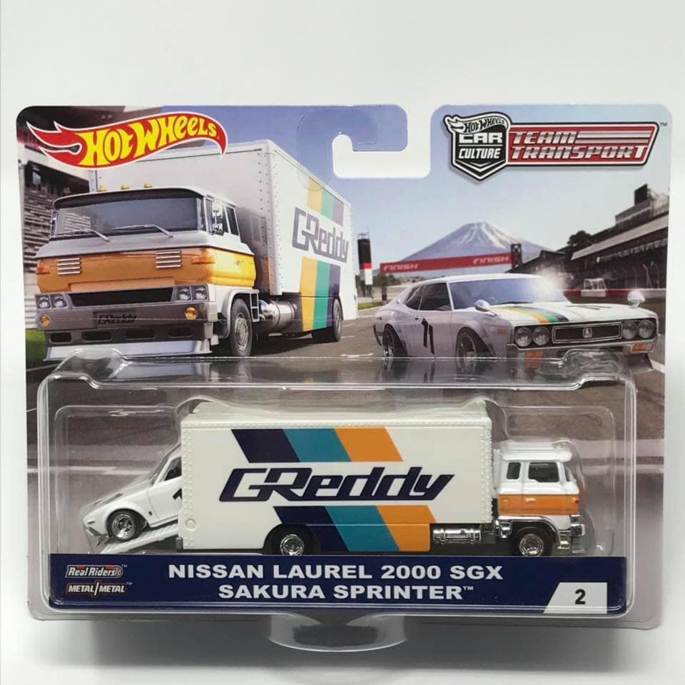 Nissan Laurel 2000 Sgx Sakura Sprinter Von Hotwheels 1:64 Greedy Team Transport